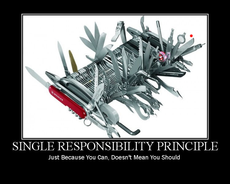 Single Responsibility Principle, one of the five SOLID principles